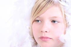 Muchacha del ángel del invierno Fotos de archivo libres de regalías