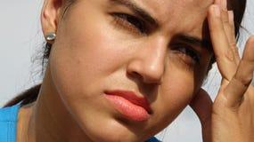 Muchacha del adolescente con dolor de cabeza Foto de archivo