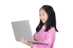 Muchacha del adolescente con el cuaderno Fotos de archivo libres de regalías