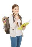 Muchacha del adolescente con la mochila de la escuela Imagen de archivo libre de regalías