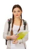 Muchacha del adolescente con la mochila de la escuela Imagen de archivo
