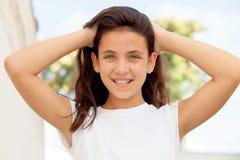 Muchacha del adolescente con la sonrisa de los ojos azules Fotografía de archivo