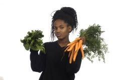Muchacha del adolescente con las verduras Imágenes de archivo libres de regalías