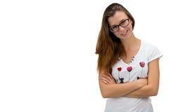 Muchacha del adolescente con los brazos cruzados Imagen de archivo