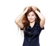 Muchacha del adolescente con los pelos largos Foto de archivo libre de regalías