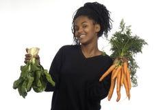 Muchacha del adolescente con los vegetagles Fotos de archivo libres de regalías