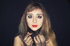 Muchacha del adolescente con maquillaje brillante Imágenes de archivo libres de regalías