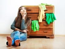 Muchacha del adolescente con ropa Fotografía de archivo