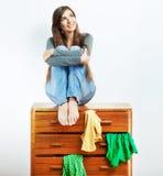 Muchacha del adolescente con ropa Imagen de archivo