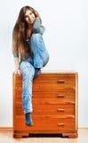 Muchacha del adolescente con ropa Foto de archivo libre de regalías