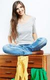Muchacha del adolescente con ropa Fotos de archivo