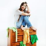 Muchacha del adolescente con ropa Fotografía de archivo libre de regalías