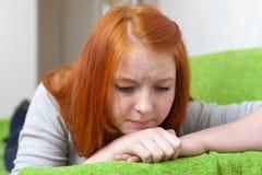 Muchacha del adolescente de la tristeza Fotos de archivo