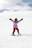 Muchacha del adolescente el vacaciones del esquí fotografía de archivo