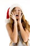 Muchacha del adolescente en actitud que anima Foto de archivo libre de regalías