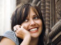 Muchacha del adolescente en el teléfono Imagen de archivo