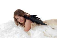 Muchacha del adolescente en estudio Imagen de archivo