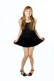 muchacha del adolescente en ropa Imagenes de archivo