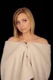 Muchacha del adolescente en una toalla Imagen de archivo libre de regalías