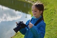 Muchacha del adolescente que hace una imagen Fotos de archivo