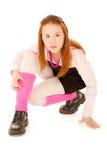 Muchacha del adolescente que mira a la cámara Foto de archivo