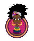Muchacha del Afro Imagen de archivo