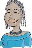 Muchacha del Afro Fotos de archivo libres de regalías