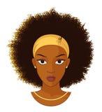 Muchacha del Afro con el pelo rizado ilustración del vector