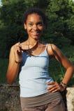 Muchacha del afroamericano Foto de archivo libre de regalías