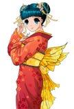 Muchacha del Anime Imágenes de archivo libres de regalías