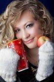 Muchacha del aspecto eslavo con un pelo justo largo fotografía de archivo libre de regalías