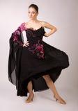 Muchacha del bailarín en el movimiento Foto de archivo
