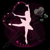 Muchacha del ballet stock de ilustración