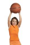 Muchacha del baloncesto Imágenes de archivo libres de regalías