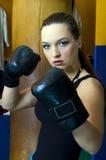 Muchacha del boxeo Imagen de archivo