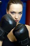 Muchacha del boxeo Imagenes de archivo
