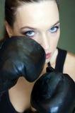 Muchacha del boxeo Fotografía de archivo libre de regalías