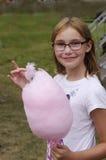 Muchacha del caramelo de algodón Imagenes de archivo