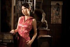 muchacha del chino 40âs Fotos de archivo