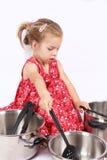 Muchacha del cocinero de Cookinng Fotos de archivo
