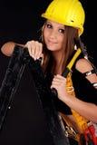 Muchacha del constructor. Fotos de archivo libres de regalías