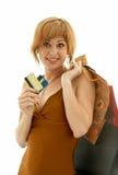 Muchacha del consumidor Imagen de archivo libre de regalías