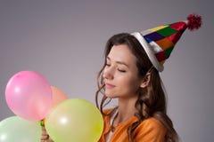 Muchacha del cumpleaños Foto de archivo libre de regalías