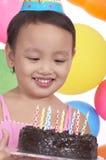 Muchacha del cumpleaños Fotos de archivo libres de regalías