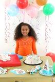 Muchacha del cumpleaños fotos de archivo