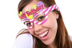 Muchacha del cumpleaños aislada Foto de archivo libre de regalías