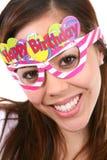 Muchacha del cumpleaños aislada Fotografía de archivo libre de regalías