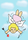 Muchacha del Cupid Imagen de archivo libre de regalías
