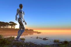 Muchacha del Cyborg Foto de archivo libre de regalías
