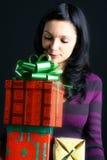Muchacha del día de fiesta Foto de archivo libre de regalías